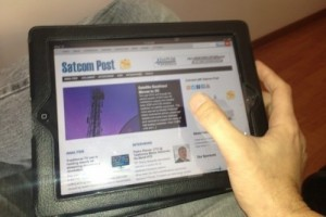 Satcom Post on iPad